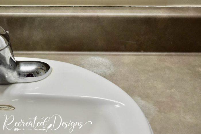stains on bathroom counter