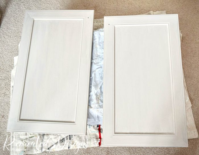 cabinet doors painted with Milk Paint by Fusion