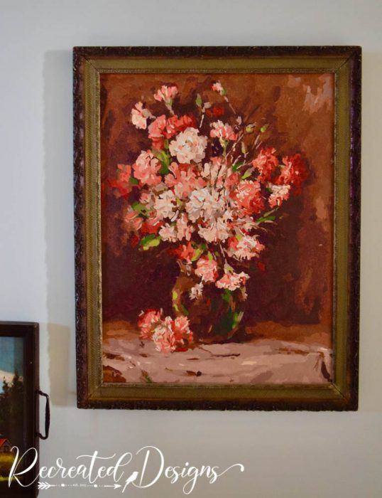 vintage frame with new paint by number