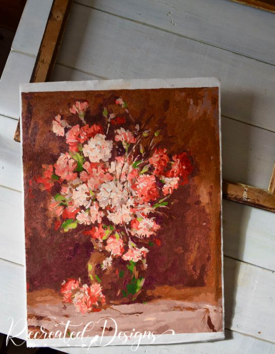 newly painted vintage paint by number