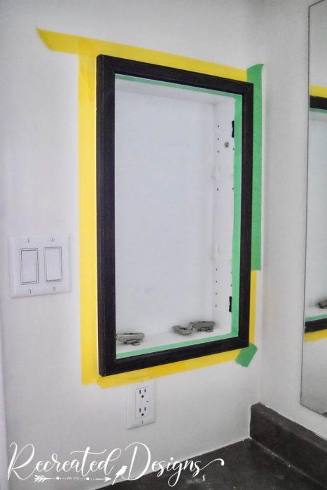 Painting bathroom cabinets