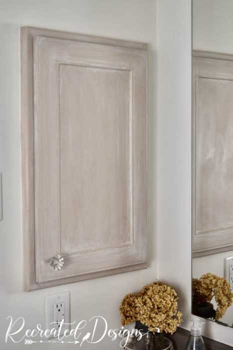 bathroom cabinet painted with milk paint by Fusion