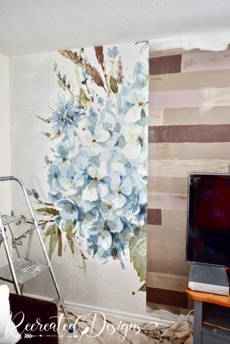 hanging a Photowall wallpaper mural