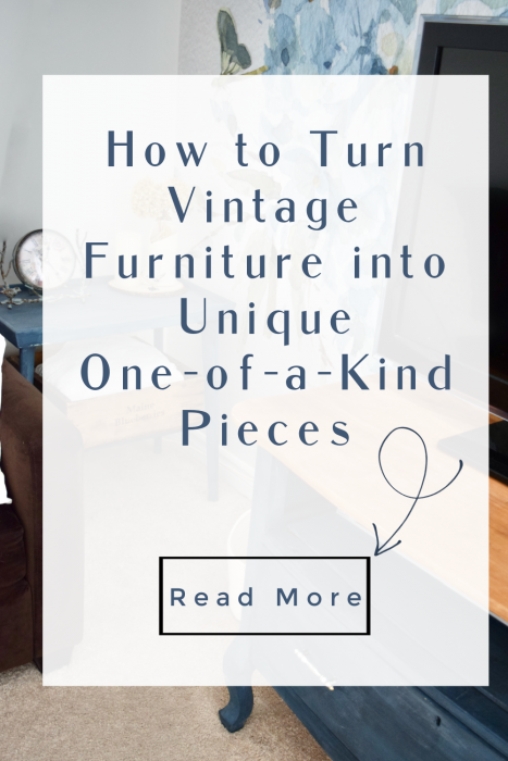 use vintage furniture to create statement pieces