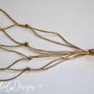 jute twine tied in knots