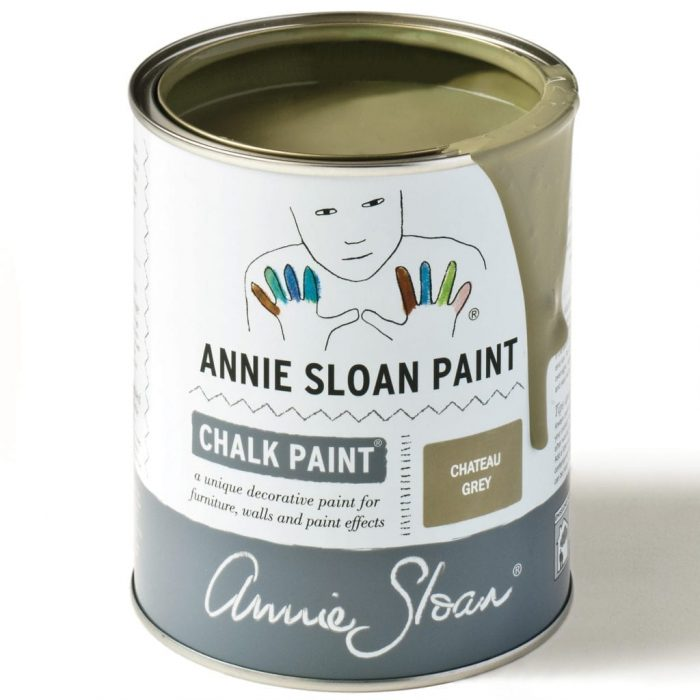 can of Annie Sloan Chalk Paint in Chateau Grey