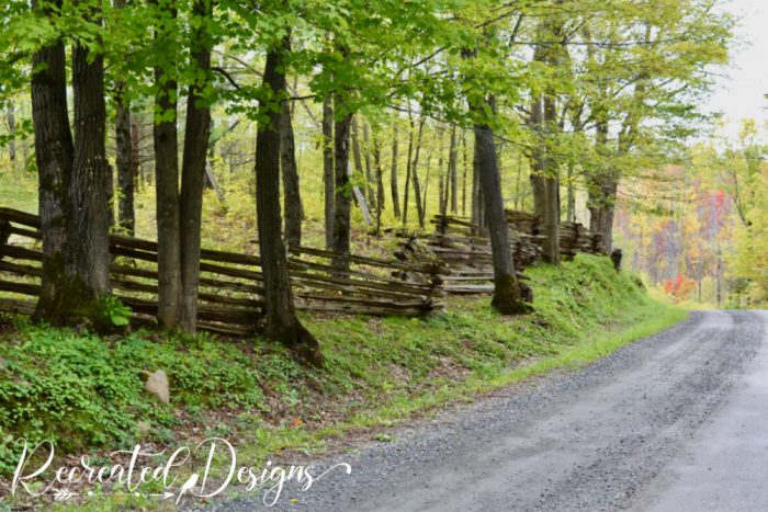 old fence on a dirt road