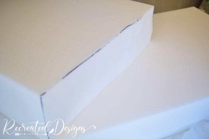 a new cut piece of foam