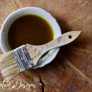 hemp oil in an ironstone dish