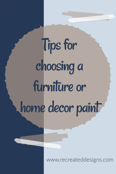 choose furniture or home decor paint