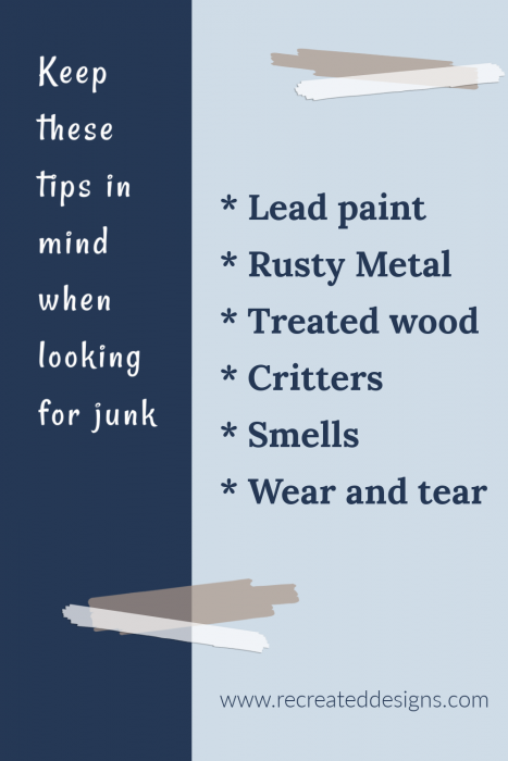 tips finding junk