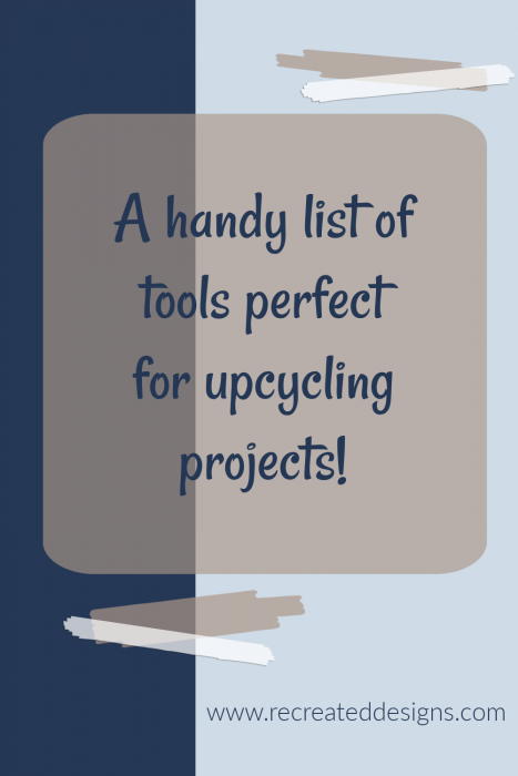 handy list of upcycling tools