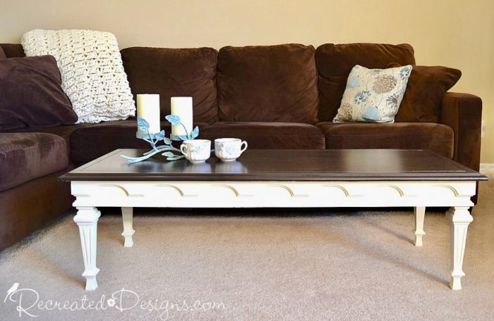 coffee table with a clear coat