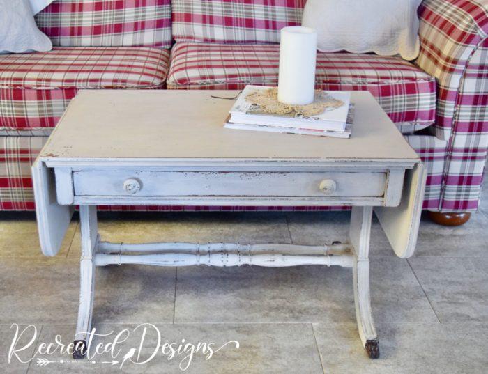 painted vintage coffee table