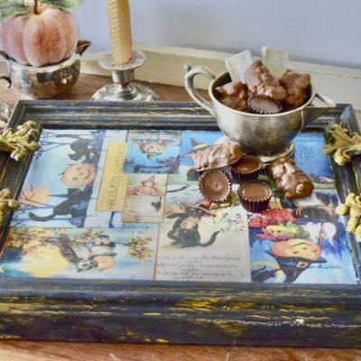 upcycled photo frame tray